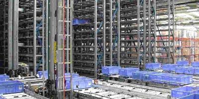 造价两千万的自动化库房货架日处理订单高达10万件